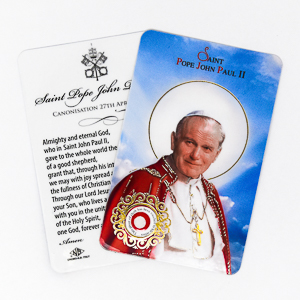Saint Pope John Paul II Relic Card
