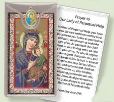 Prayer Card to Our Lady Perpetual.