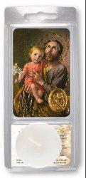 Saint Joseph Votive Candle & Prayer.