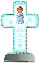 Blue Metal Cross.
