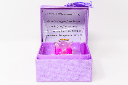Purple Guardian Angels Blessing Box.
