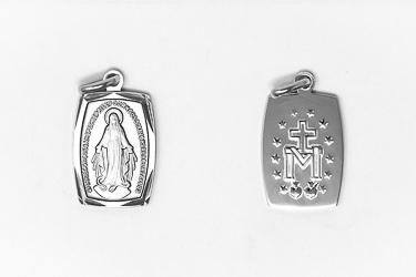 Rectangular 925 Miraculous Medal