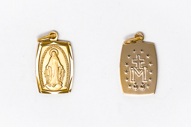 Rectangular Gold Miraculous Medal