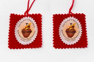 Red Sacred Heart Scapular