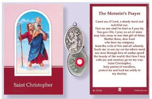 St.Christopher Relic & The Motorist's Prayer.