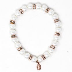 Rose Gold Miraculous Pearl Bracelet.