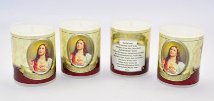 Sacred Heart of Jesus Votive Candle.
