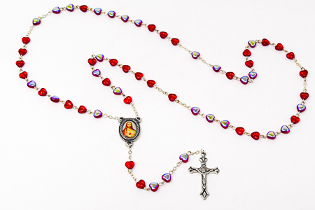 Sacred Heart of Jesus Rosary Beads.