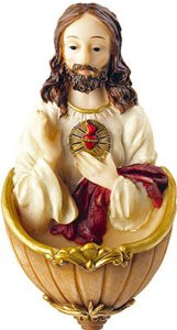 Sacred Heart of Jesus Holy Water Font