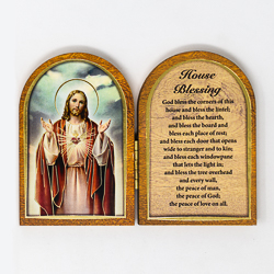Sacred Heart of Jesus Folding Plaque.