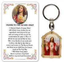 Sacred Heart of Jesus Key Ring & Prayer Card.
