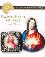 Sacred Heart of Jesus Car Plaque.