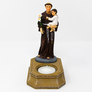 Saint Anthony Statue and Candleholder.