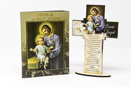 Saint Joseph Booklet & Wood Cross.