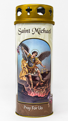 Saint Michael Pillar Candle.