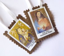 Scapular of the Sacred Heart of Jesus.