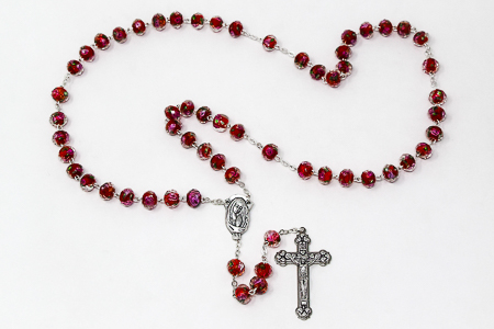 Scapular Rose Rosary - Red
