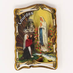 Lourdes Scroll Apparition Magnet.