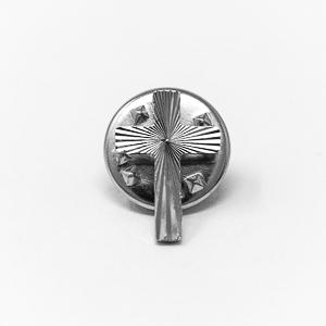 Silver Cross Pin.