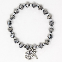 One Decade Silver Rosary Bracelet.
