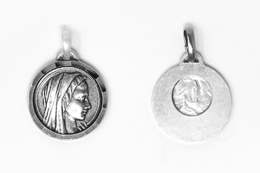 Silver Virgin Mary Medal.