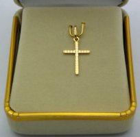 Solid Gold Cross Pendant.