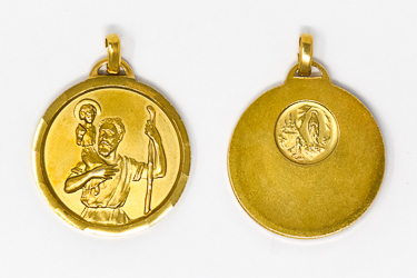 Gold  St. Christopher Medal