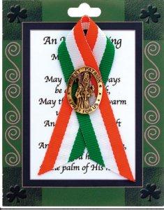 St.Patrick's Day Ribbon & Brooch