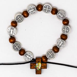 St Benedict Rosary Bracelet.