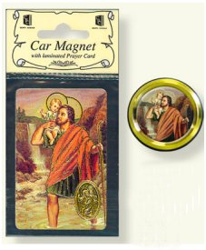 St. Christopher Car Magnet & Prayer Card.