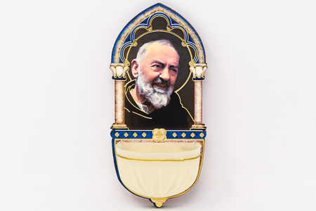 St Pio Luminous Holy Water Font.