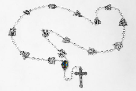 Station of the Cross Crystal Rosary Beads.