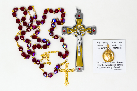 Swarovski Crucifix & Rosary Gift Set.