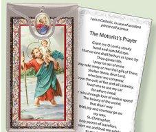 Motorist's Prayer St Christopher with Medal.