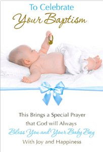 Baptism Card for a Baby Boy.