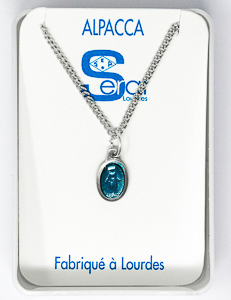 Turquoise Miraculous Medal Necklace.