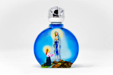 Blue Bottle of Lourdes Holy Water