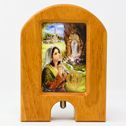 Wood Holy Water Dispenser.