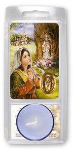 Lourdes Votive Candle & Prayer.