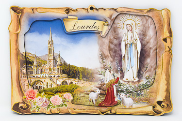 Lourdes Apparitions Wall Plaque.