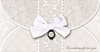 Wedding Day Money Wallet Card.