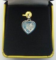 Solid White Gold Lourdes Medal.