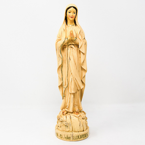 Virgin Mary Wood Statue.