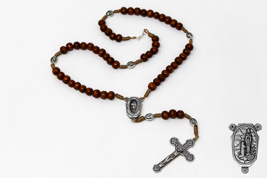 Lourdes Water Wooden Rosary.