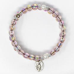 Wrap Around Rosary Bracelet Amethyst.
