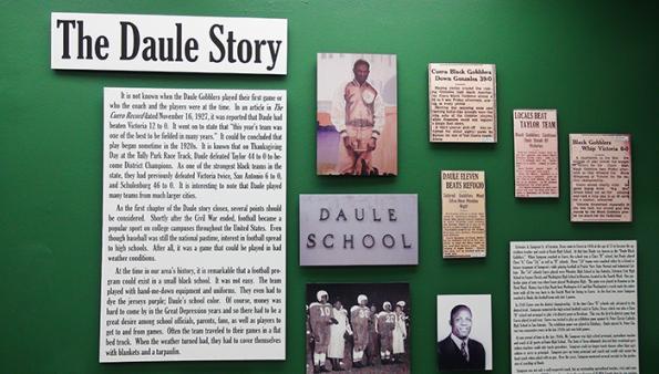 The Daule School story in the Cuero Football Museum